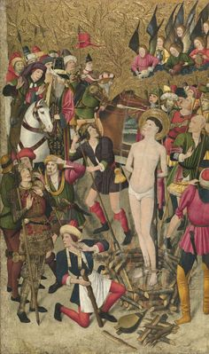 JAUME HUGUET. Retablo de San Vicente Mártir. 1455-60. Museu Nacional d'Art de Catalunya, Barcelona