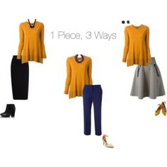 1 Piece, 3 Ways. Fall Interview Outfit Ideas