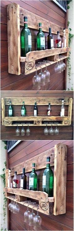 pallet wall bar idea