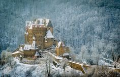 Eltz Castle, Germany - The Eltz castle in Germany has been family owned since this 12th century.  Even today descendants of the original owners own and operate tours of the castle.