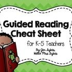 """This is a FREE """"cheat sheet"""" to help all K-5 teachers remember what to do before/during/after reading in a Guided Reading lesson."""