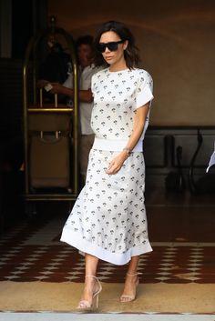 Victoria Beckham en robe Victoria Beckham à New York
