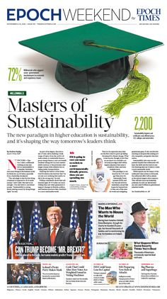 Masters of Sustainability Epoch Times #newspaper #editorialdesign