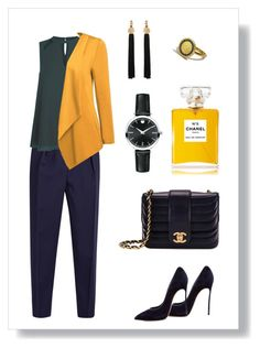 № 419/2 by tigrpuh on Polyvore featuring мода, Roksanda, Casadei, Chanel, Movado and Yves Saint Laurent