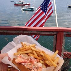 Lobster roll & the water.