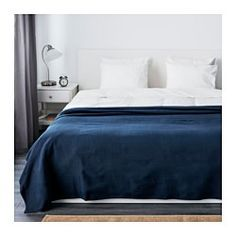 IKEA offers everything from living room furniture to mattresses and bedroom furniture so that you can design your life at home. Check out our furniture and home furnishings! Single Size Bed, Blue Bedroom Decor, Bedroom Lamps, Bedroom Colors, Lit Simple, Full Bed, Bedroom Carpet, Decorating Bedrooms, Dark Blue