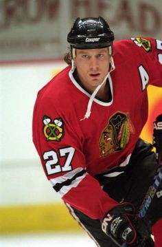 Jeremy Roenick = forever a Chicago Blackhawk, outstanding American hockey player, and just great guy!
