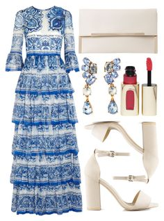 """street style"" by sisaez ❤ liked on Polyvore featuring Dolce&Gabbana, Nly Shoes, Oscar de la Renta and L'Oréal Paris"