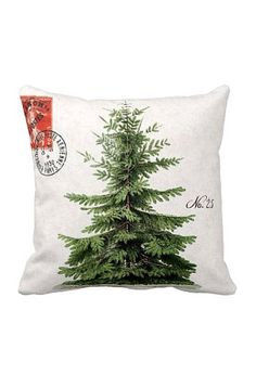 Pillow Cover Holiday Christmas Tree Green