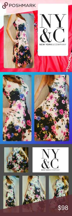 PASTOR'S WIFE FLORAL DRESS NY& co XS In excellent used condition ..my favorite dress in the whole world... Its my go-to dress  Fits everyone so,well !  Its an,extra small BUT IT LIKE THE SISTERHOOD OF THE TRAVELING PANTS IN A DRESS FORM.. I bet if my DAD put this on He'd look amazing too!!! I don't really want to sell this ... BUT I need moneY So it's going to have to be A good offer!! NY Collection Dresses