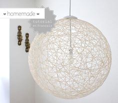 10 Cool DIY Pendant Lamps suitable for modern interiors Cool Diy, Diy Luz, Homemade Lamps, High End Lighting, Diy Pendant Light, Pendant Lamps, Deco Luminaire, Diy Light Fixtures, Creation Deco