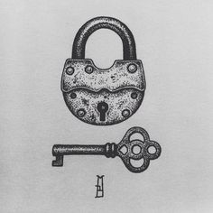 #padlock and #key #drawing #dotwork #newdesign #newtattoo #ink #mb #marcinbrzezinski #art #stronghold #strongholdtattoo #custom #customtattoo #london #blacktattoo #iblackwork #rusty #dots #instablack