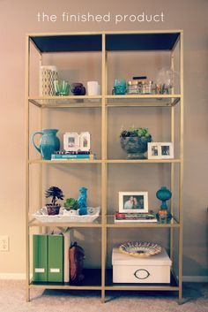 Our house has been in desperate need of a bookshelf. As you might have noticed, I love to buy and collect trinkets and vignettes. But my co...