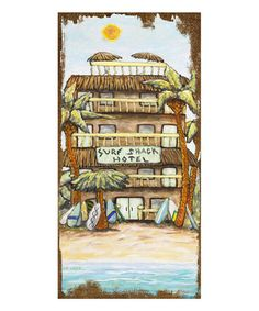 This Surf Shack Wall Art is perfect! #zulilyfinds