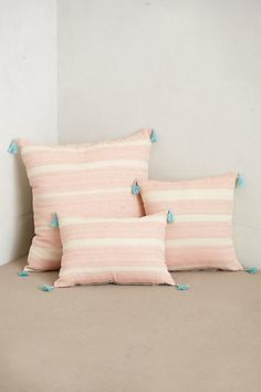 Striped Linen Pillow - anthropologie.com Who we Are & What We Love www.societyofwonderland.com Original Prints & Textiles on Pillows, Wallpaper & Lifestyle Products