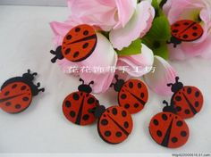 Free shipping Christmas DIY crafts,DIY clothing accessories,decorative flower,4 cm Felt cloth beetles,nonwoven fabric flowers-in Decorative Flowers & Wreaths from Home & Garden on Aliexpress.com