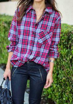 2013 fall\winter Does Plaid All Over fashion Plaid shirts
