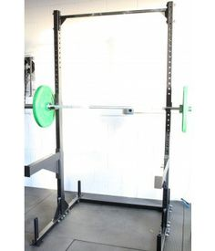 Our best squat rack yet. Very stable even with the biggest guys on the rack doing muscle ups or kipping pull ups. Made in the USA Weight Lifting Equipment, Heavy Weight Lifting, Gym Equipment, Crossfit Garage Gym, Gym Plans, Exercises, Workouts, Squat Stands, Gym Room