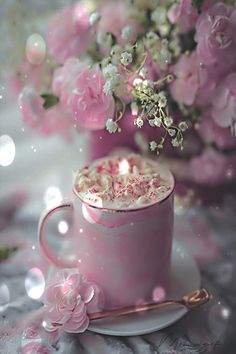 Mimi Gif Beautiful Flowers Images, Flower Images, Good Morning Coffee Gif, Glitter Room, 27 September, Amazing Gifs, Good Afternoon, Flower Aesthetic, Good Day