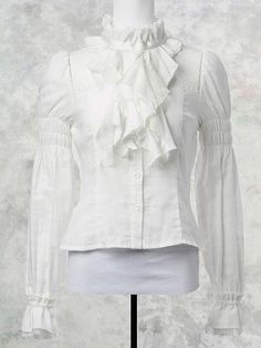 Frill Tied Gauze Blouse/ See more at http://www.cdjapan.co.jp/apparel/new_arrival.html?brand=MMM #gothic lolita #lolita fashion