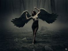 fallen angels... left alone... in the middle of nowhere... naked.