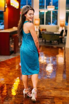 Target Midi Dress l Jewel Tone Teal l Fashion Blogger l Fitness and Frills