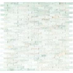 MS International, Greecian White Splitface 12 in. x 12 in. Marble Mesh-Mounted Mosaic Wall Tile, GRE-SFIL10MM at The Home Depot - Mobile