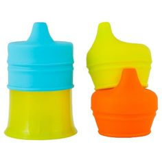 Boon SNUG SPOUT with Cup Sippy Cups, Blue/Green/Orange | @giftryapp