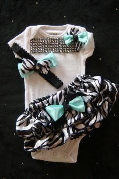 Baby girl outfit complete bodysuit  mint  by BeBeBlingBoutique, $37.50 ...she would have this too! #ifihadadaughter