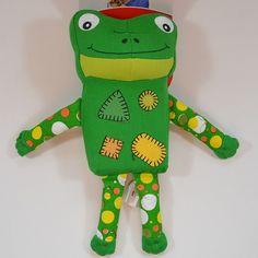 KONG Zillowz - Frosch - L - Süßer Frosch mit rechteckigem und quietschendem Körper