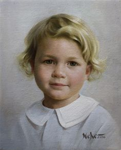 """Painting by Brian Neher, Portrait of George, 10"""" x 8"""", Oil on Linen www.BrianNeher.com"""