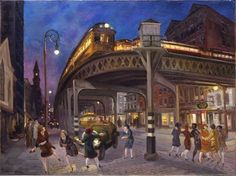 John Sloan, Sixth Avenue Elevated at Third Street, 1928. Oil on canvas, 30 × 40 in. (76.2 × 101.6 cm). Whitney Museum of American Art, New York