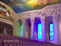Goetheanum, located in Dornach (near Basel), Switzerland. Meeting hall