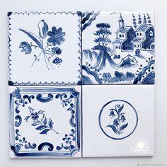 Купить Роспись плитки Русские изразцы в интернет магазине на Ярмарке Мастеров