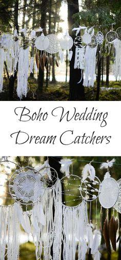 Boho Wedding Dream Catchers | These are so beautiful and so perfect for a wedding, bridal shower, or a baby shower. #weddings #weddingday #weddinginspiration #bridal #bridalshowerideas #babyshowerdecorations #boho #bohostyle #bohowedding #etsy #etsyfinds #affiliatelink