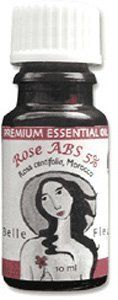 Rose ABS 5% 100% Pure Therapeutic Grade Essential Oil - 10 Ml by Belle Fleur. $18.49. Rose ABS 5% Essential Oil - Rosa centifolia Wear as a personal scent to uplift your day as well as others.. Possible Uses: Depression, eczema, frigidity, mature skin, menopause, stress. [Julia Lawless, The Illustrated Encyclopedia of Essential Oils (Rockport, MA: Element Books, 1995), 57-67.]. Constituents of Rose Otto: Citronellol, Geraniol, Nerol, Farnesol, Esters, Rose Oxide, Limonene, Myrc...