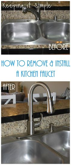 How to remove an old faucet and how to install a new Moen kitchen faucet #spon