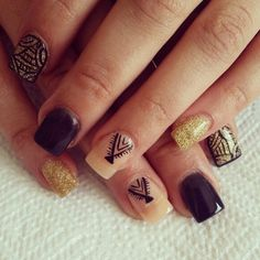 Simple tribal nails