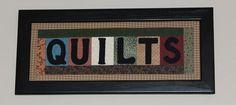 """Framed """"Quilt"""" Art"""