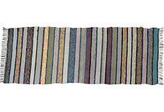 Handmade Swedish Rag Rug, 6'2'' x 2'2''