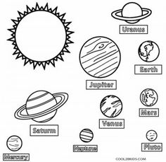 Solar System Color Page : Printable Solar System Coloring Pages for ...