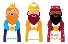 Three Wise Men Bringing Gifts To Christ Stock Vector - Illustration of east, birth: 22478626 We Three Kings, Kings Day, 3 Reyes, Epiphany Crafts, Man Clipart, Sunday School Projects, Enchanted Island, Star Of Bethlehem, Three Wise Men