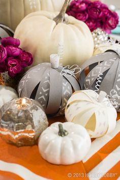 Paint a patch of pumpkins for a modern spin on autumn decor!