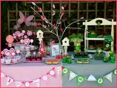 Frogs and Butterfly Birthday party. Cute idea for a brother/sister party.