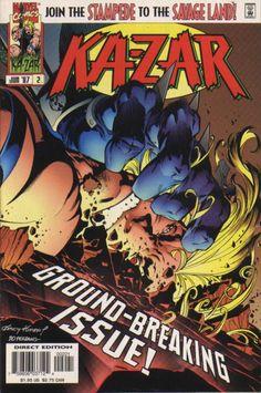 Ka-Zar Vol. 2 # 2 (Variant) by Andy Kubert & Jesse Delperdang