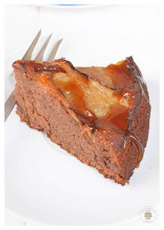 Tarta de manzana, con chocolate y caramelo