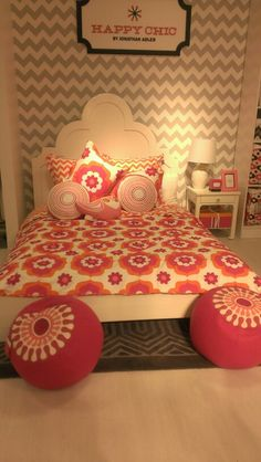 Teen room- Chevron walls with tan for lauren's room
