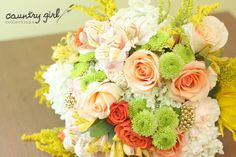 Organic Wedding Bouquet by Country Girl Collections