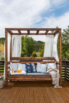 Disse «gjør det selv»-prosjektene kan gjøre det enda litt koseligere på terrassen eller i hagen din.