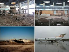 Once the main airport serving the island of Cyprus, Nicosia International Airport has also been abandoned since the 1974 Turkish invasion. Principally the headquarters of the UN Peacekeeping Force in Cyprus, the commercial flight terminal and solitary passenger jet have suffered almost 40 years of decay.